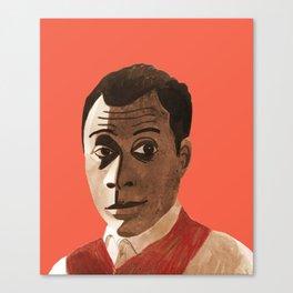 Portrait of James Baldwin Canvas Print