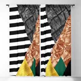fall abstract triangle Blackout Curtain
