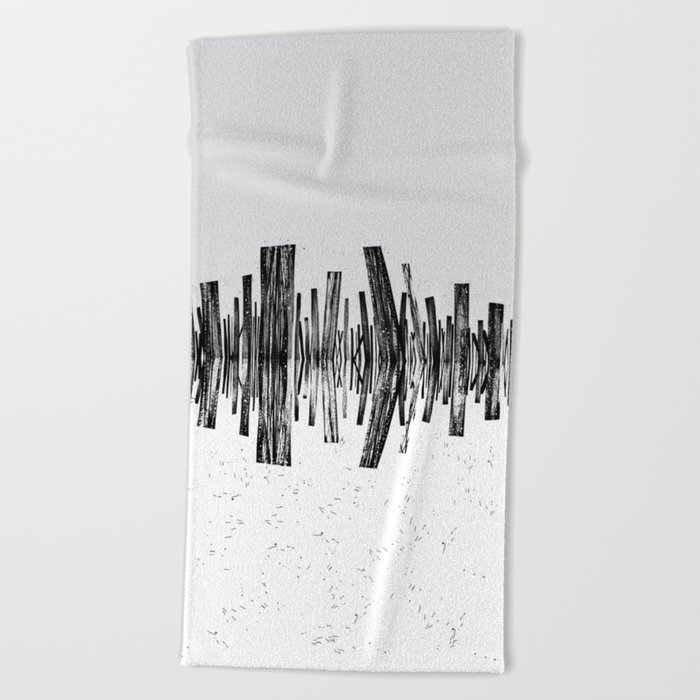 minimal b.w. Beach Towel
