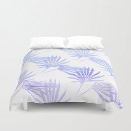 Palmetto Leaf Fronds Print Blue Duvet Cover