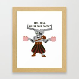 Iron Bull and His Cocoa Framed Art Print