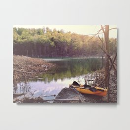 Exploring the lake, looking for new places. Metal Print