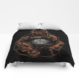 Belly Clock Buddha Comforters