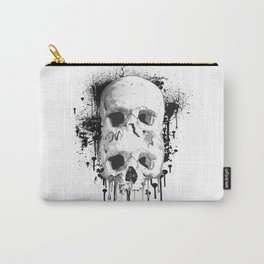 Skull Drip Black Ink Carry-All Pouch