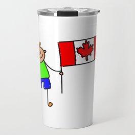 Canadian Flag Kid Travel Mug