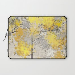 Abstract Yellow and Gray Trees Laptop Sleeve
