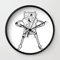 finn Wall Clocks featuring Finn  by 8BOMB