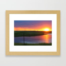 North Dakota Sunset Framed Art Print