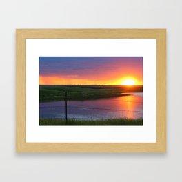 North Dakota Sunset Framed Art Print
