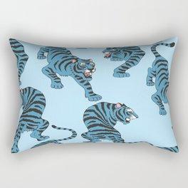 Blue Tigers Rectangular Pillow