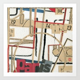 Short Stories from the City - Paris Allegro Art Print