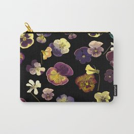 Dark Pansies Carry-All Pouch