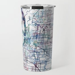 Memphis map Travel Mug