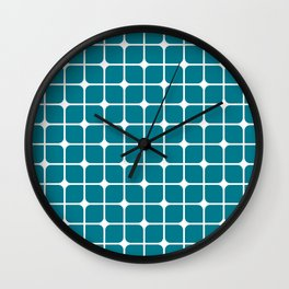 Modern Cubes - Teal Wall Clock