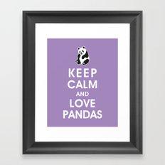 Keep Calm and Love Pandas Framed Art Print