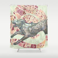 venice Shower Curtains featuring VENICE by C. Reeder