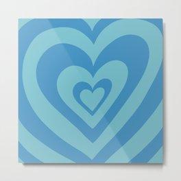 Love Power - Sea Blue Metal Print