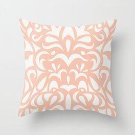 Penguin Classic: Peach Throw Pillow