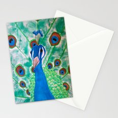 Watercolor Peacock Stationery Cards