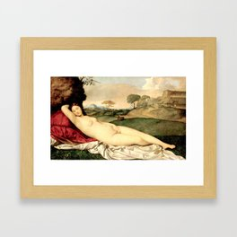 NUDE ART: Sleeping Venus by Giorgione Framed Art Print