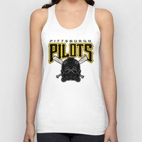 pittsburgh Tank Tops featuring Pittsburgh Pilots by Ant Atomic