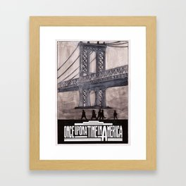 once upon a time in america poster Framed Art Print