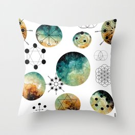 Galaxy Geometric Pattern 15 Throw Pillow
