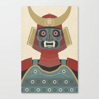 samurai Canvas Prints featuring Samurai by James White