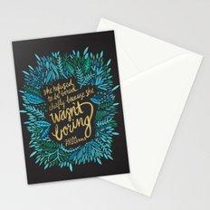 Zelda Fitzgerald – Blue on Black Stationery Cards