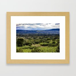 Stunning Views of the Nicaraguan Countryside and Farms from the Rainforest of Nicaragua Framed Art Print