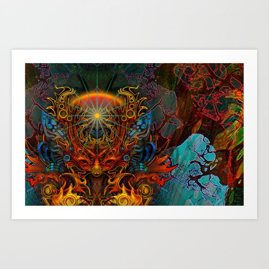 Fire_Fairy Art Print