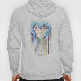 Rei Ayanami from Evangelion Digital Mixed Media Hoody