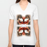 givenchy V-neck T-shirts featuring Givenchy mask by cvrcak