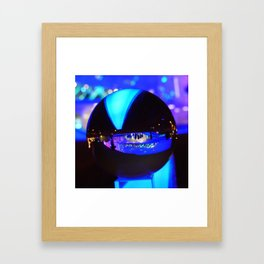 Through the crystal ball / Glass Ball Photography Framed Art Print