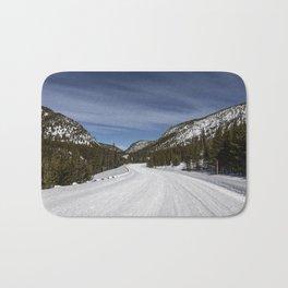 Carol Highsmith - Snow Covered Road Bath Mat