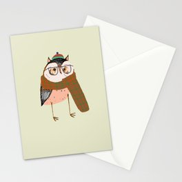 Owls Love Scarfs.  Stationery Cards