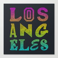 los angeles Canvas Prints featuring Los Angeles by Fimbis