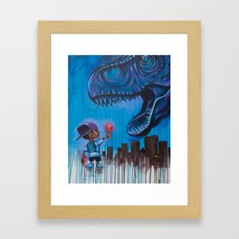 Don't Feed Rex Framed Art Print