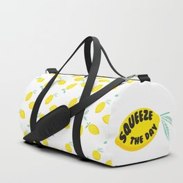 Squeeze The Day Lemon Duffle Bag