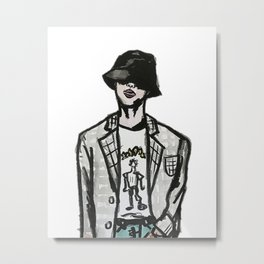 RUN BTS JIN Metal Print