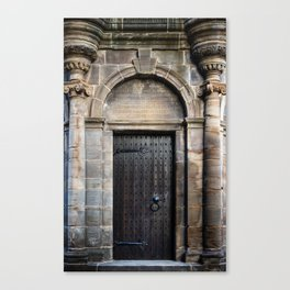 Edinburgh Mercat Cross Door Canvas Print
