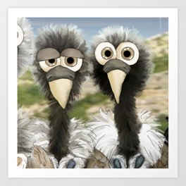 series: Old World Vultures - Gyps indicus and Gyps tenuirostris Art Print