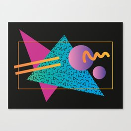 Memphis Pattern 24 - 80s / 90s Retro Canvas Print