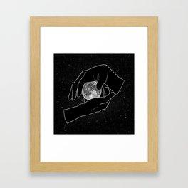 Hold the Moon Framed Art Print