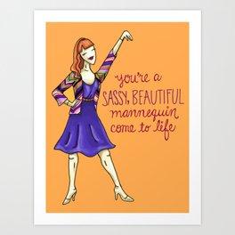 Leslie Knope Compliments: Sassy Mannequin Art Print