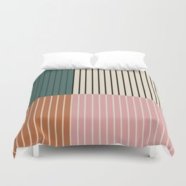 Color Block Lines V Duvet Cover