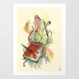 Sketchbook Life Art Print