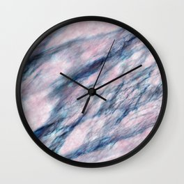 Red Blue Marble Wall Clock