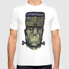 The Monster SMALL White Mens Fitted Tee