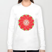flower pattern Long Sleeve T-shirts featuring Flower Pattern by smoothimages
